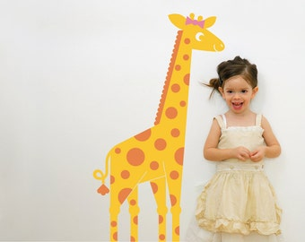 Giraffe Wall Decal: Jungle Animal Safari Theme Baby Nursery Kids Zoo Room Decor