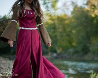 Narnian Costume - Susan's Dark Red Coronation Dress - Custom Size
