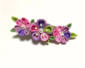 """Thumb crafted ornament """"Pink Purple"""""""