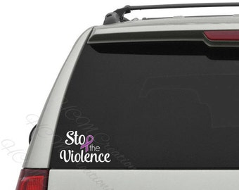 Domestic Violence Awareness Decal - Domestic Violence Awareness - Vinyl Decal - Domestic Violence Car Decal - Car Decal