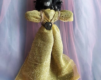 Voodoo doll power, confidence, attractiveness, authentic New Orleans Style handmade one of a kind Vodou Love Poppet Art Doll One of a kind