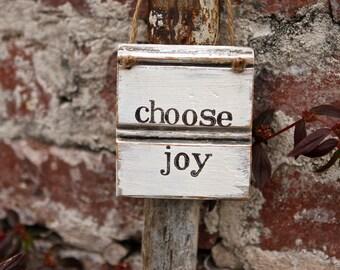 Choose Joy Sign | Rustic Sign | Joy Sign