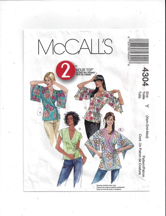 McCall\'s 4304 Pattern for Misses\' Top 2 Lengths 2