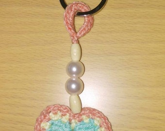 Heart or ice cream keychain