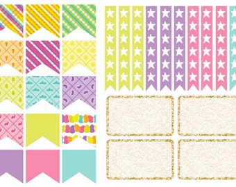 Easter BOLD Checklist stickers (planner stickers)