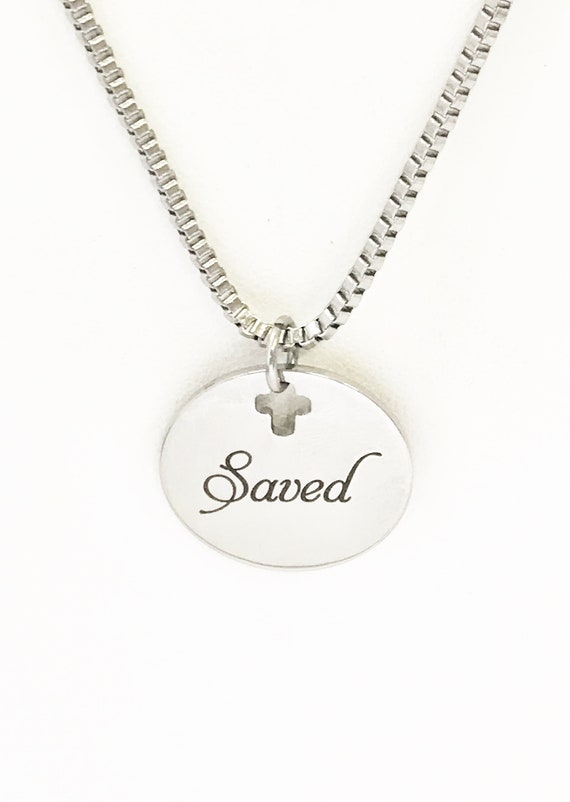 Christian Gifts, Christian Necklace For Him, Saved Necklace, Christian Jewelry Gifts, Confirmation Gifts, Son Gifts, Baptism Gift