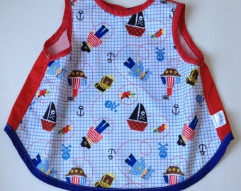bib waterproof apron for child baby cayalou coat coveralls pirate boy pul