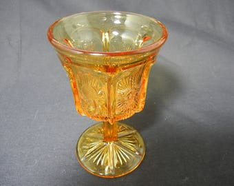 Vintage L.G. Wright Thistle Pattern Water Goblet