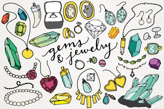 gems and jewelry clipart logos gems clipart jewels clip rh etsy com jewelry clip art free download jewellery clipart