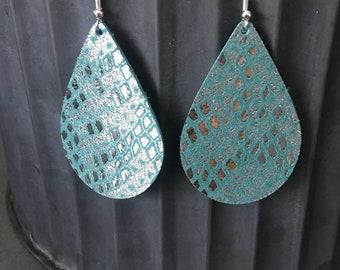 Sparkle Snakeskin Print Earrings
