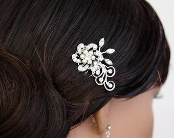 Small Wedding Hair Comb Pearl Rhinestone Bridal Comb Vintage Style Wedding  Hair Accessories LITTLE SABINE.