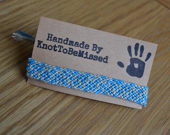 Handmade Woven Macrame Friendship Bracelet Random Grey Blue