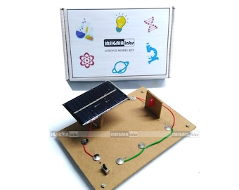 Solar Powered LED Series On/Off Control Science Working Model - Educational DIY Science Kit