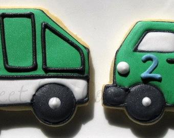 Garbage Truck Cookies 3 dozen