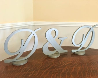 Sweet heart table sign wedding monogram wedding initials head table decor wedding letter set