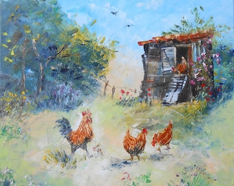 "Painting ""In the Henhouse"""