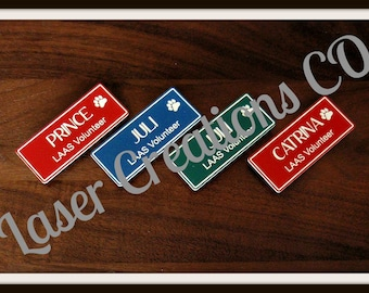 VOLUNTEER NAME TAG with Clipart and Company (Magnet Back)