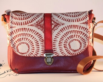 """Bag """"Middle"""" red pinwheel La Touch' Emily"""