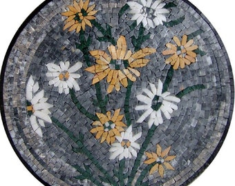 Floral Stone Mosaic Accent