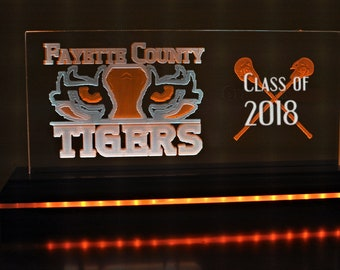 Dual Pane Edge Lit Acrylic Sign - Fayette County High School