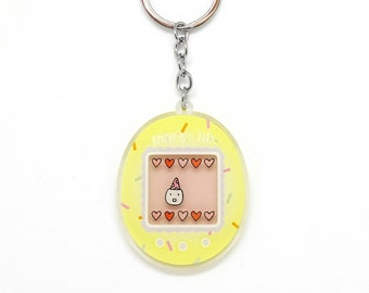 Party BB Tamagotchi, Virtual Pet, Acrylic Charm Keychain