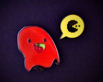 PARANORMAL PACTIVITY: BLINKY set of 2 enamel pins