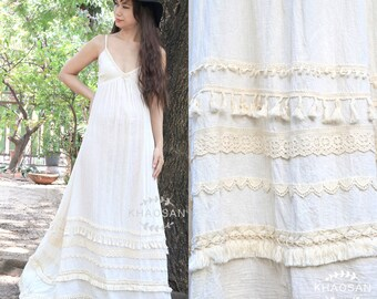 White maxi dress | Etsy