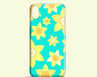 Daffodils mobile phone case / summer iPhone X case, iPhone 7, floral iPhone 7 Plus, iPhone Se, iPhone 6S, iPhone 6, iPhone 5S, iPhone 5