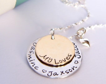 Personalized Mothers Necklace - Personalized Jewelry - Custom Necklace - Childrens Name Necklace - Personalized Jewelry - Mom Jewelry -