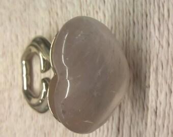 Ring with quartz heart