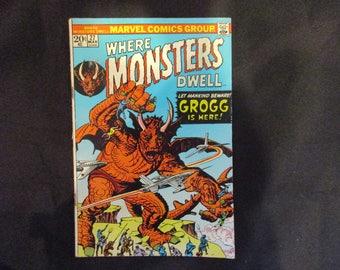 Where Monsters Dwell #27 Marvel Comics 1974