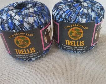Lion Brand Yarns Ocean Trellis Ribbon Yarn