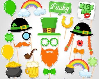 St Patrick's Day Party Celebration Printable Photobooth Props - St Patrick's Day Party Photo Booth Props - Irish Party Photo Booth Props