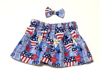 Red White and Blue Skirt, America, Baby Clothing, Girls Clothes, Girls Clothing