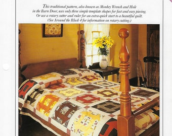 Churn Dash Quilt Pattern - Best Loved Quilts - Bedding, Bedspread, Home Decor, Sewing Pattern