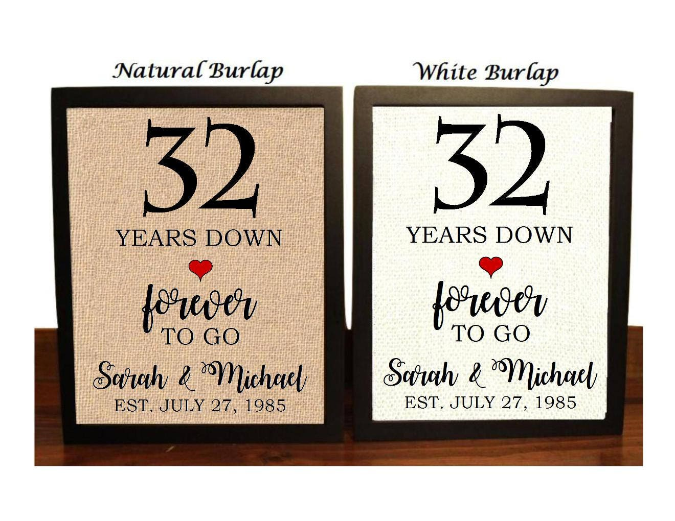 32nd Anniversary Gift 32nd Wedding Anniversary Gift Gift