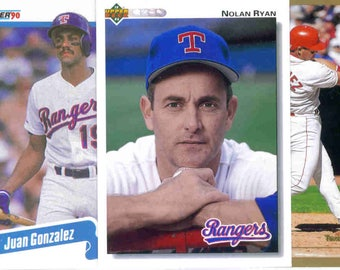 TEXAS RANGERS Baseball Team Lot - 250 Assorted Cards