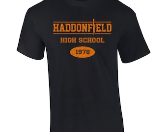 Haddonfield High School 70s movie scary horror slasher mask halloween costume party college funny - Apparel Clothing - Mens T-shirt - 010
