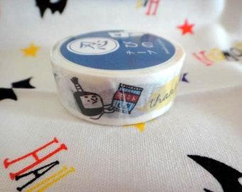 Kawaii Ninja washi tape 1roll Masking Washi Tape -Deco tape 15mm x7M