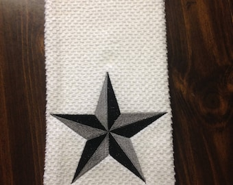 Embroideried kitchen towel with Star