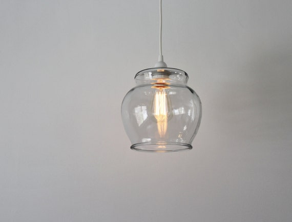 Fish bowl pendant lamp hanging pendant lamp made from a aloadofball Image collections