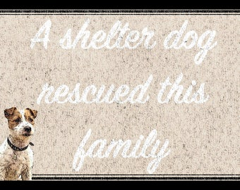 Your Dog Added - A Shelter Dog Rescued This Family Home Doormat