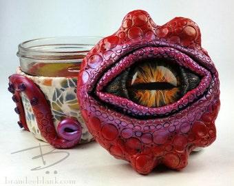 Custom Octopus Stash Jar - made to order - air tight, water proof - 4 oz.