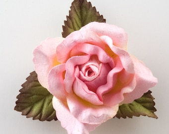 Mulberry Paper Open Roses - Pink  - 12 Roses x 50mm - Favour Decoration Card Craft, Scrapbooking Embellishments