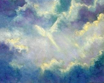 Angel Print Poster, Angel Art, Wall Art, Home decor, Guardian Angel,  Angel Wings, Art Print, Spiritual Art