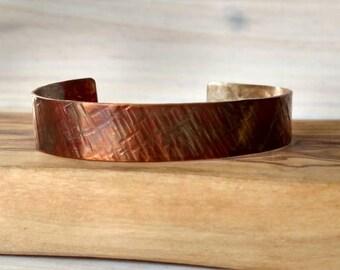 Bronze Cuff | Bronze anniversary | Cuff bracelet | bronze bracelet | 8th anniversary gift for her | anniversary gift | bronze jewelry