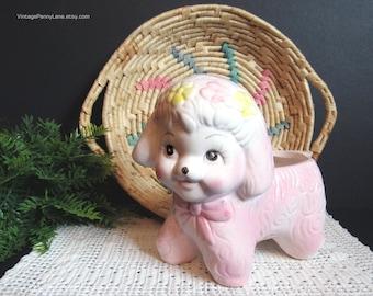 Vintage Ceramic Planter, Anthropomorphic Lamb, Vintage Sheep Planter