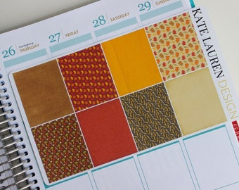 Fall Planner Stickers for Erin Condren, Full Boxes, Autumn Stickers, Fall Stickers