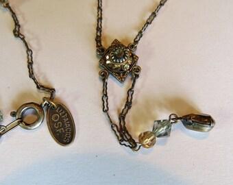 Vintage Dainty SF Liz Paiacios Victorian Revival Necklace