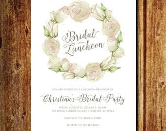 Floral Bridal Luncheon Invitation